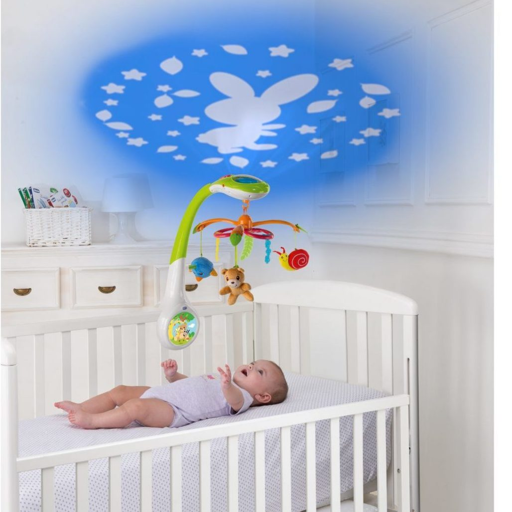 Chicco Magic Forest Cot Mobile Projector - Early Learning Centre
