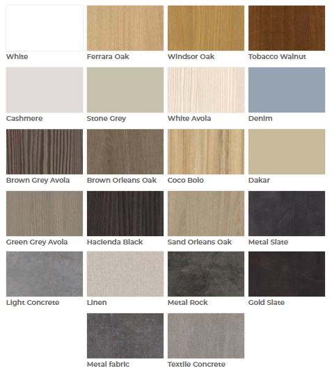 Slidding Wardrobe Door Finishes