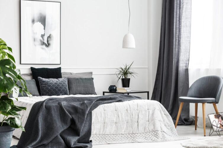 monocromatic bedroom