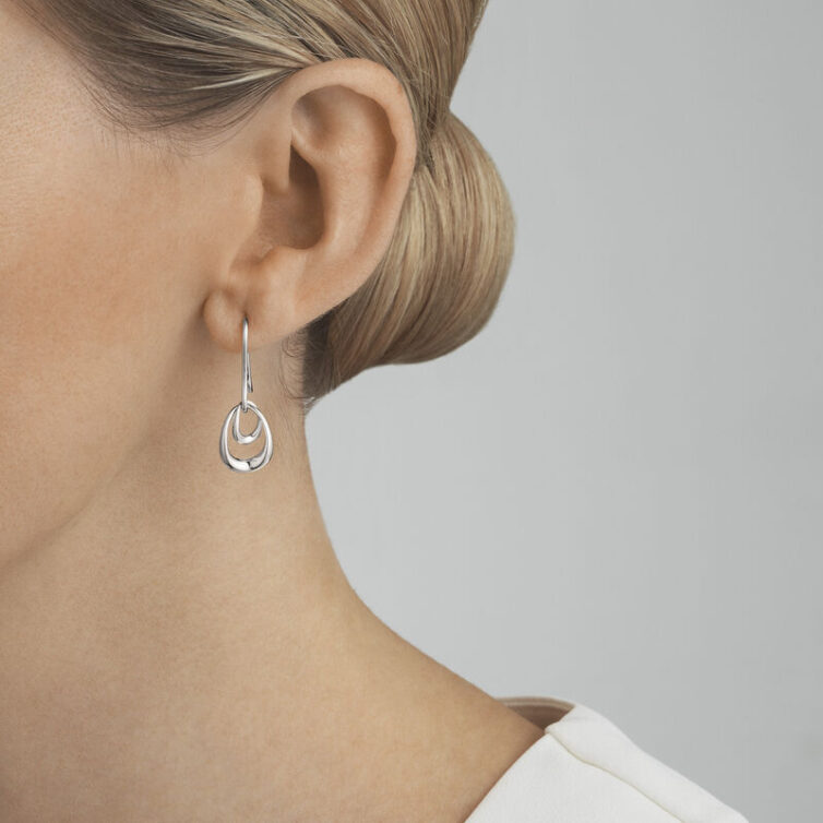Offspring long silver earrings - From georgjensen.com