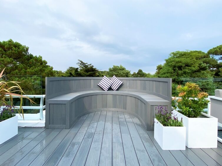 Seating area made out of composite decking