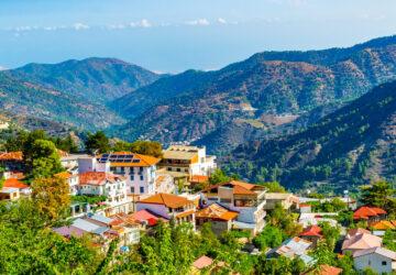 Pedoulas village on Cyprus