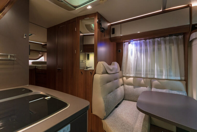 Interior of caravan/motorhome