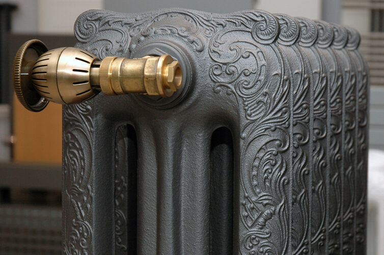 Old reconditioned cast iron radiator