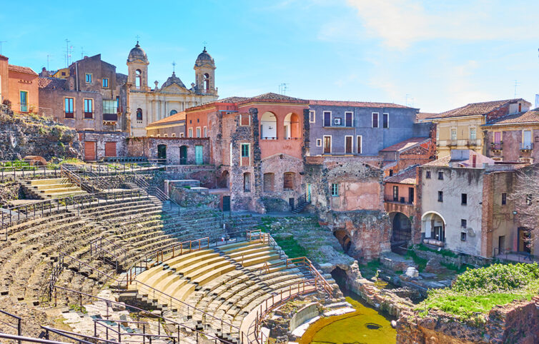 Ancient Roman theater in Catania