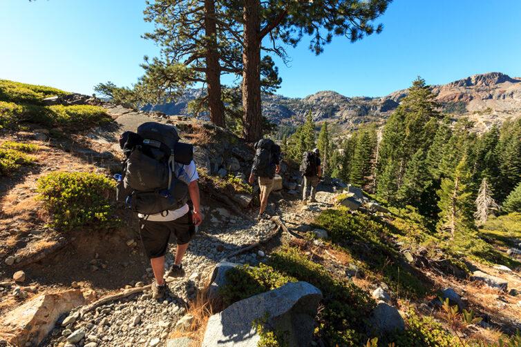 Hikers in Lake Tahoe