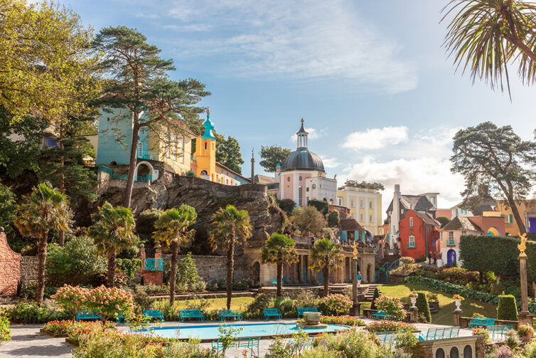 Portmeirion, North Wales, UK. The Italianate village built by Clough Williams-Ellis.