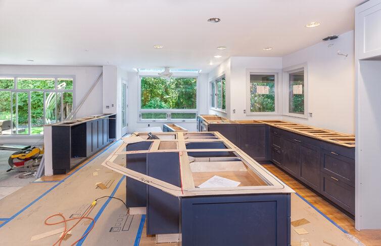 Openplan kitchen home renovation