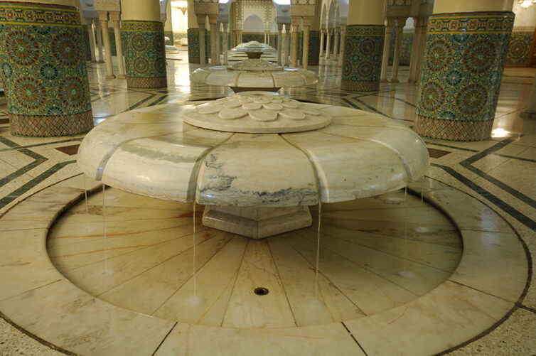 Great Mosque Hassan ll Casablanca, Morocco. The ablutions rooms