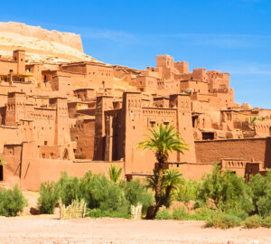 Traditional medieval oasis fortress of Ait Benhaddou, Ouarzazate, Morocco.