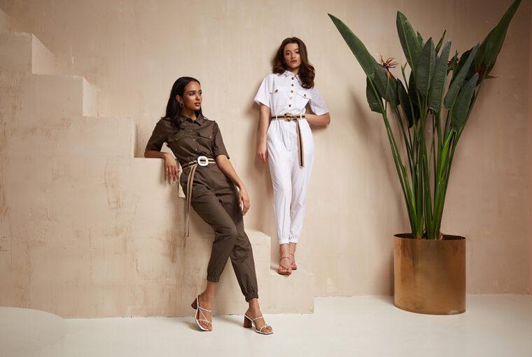 Women wearing fashionable jumpsuits