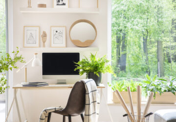 Home Office with view of woodlands