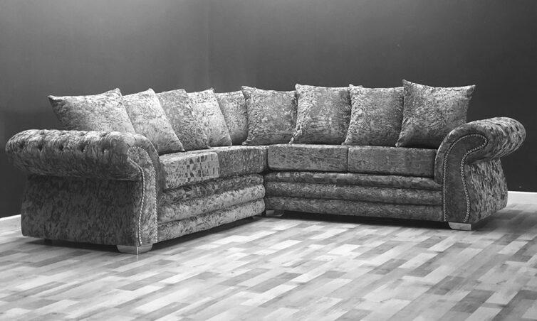 Brighton Corner Super Crushed Velvet Sofa