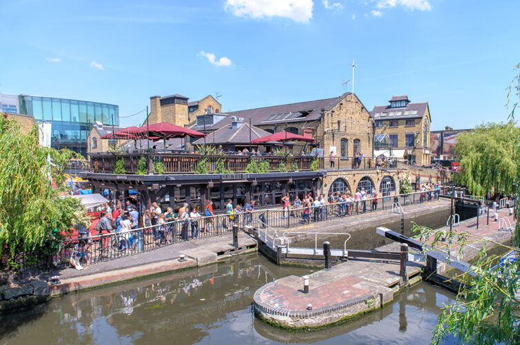 Camden Locks London UK.