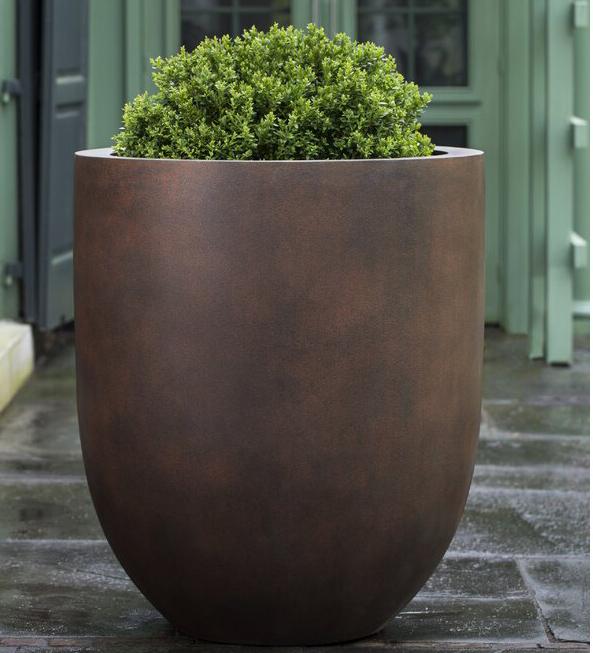 Rust Lite Wetterland Fiberglass Pot Planter from Wayfair