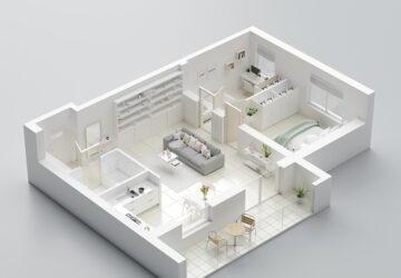 £D image of an apartment
